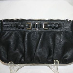 Express  Black Faux-Leather Lipstick Bag or Clutch
